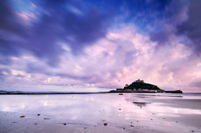 St. Michaels Mount at sunset